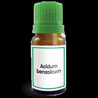 Abbildung des homöopathischen Einzelmittels Acidum benzoicum