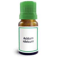 Abbildung des homöopathischen Einzelmittels Acidum nitricum