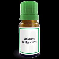 Abbildung des homöopathischen Einzelmittels Acidum sulfuricum