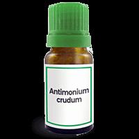 Abbildung des homöopathischen Einzelmittels Antimonium crudum