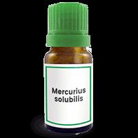 Abbildung des homöopathischen Einzelmittels Mercurius solubilis